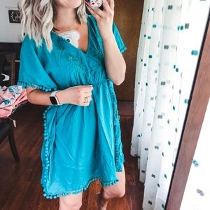 Old Navy Teal Swimsuit Coverup Dress Small